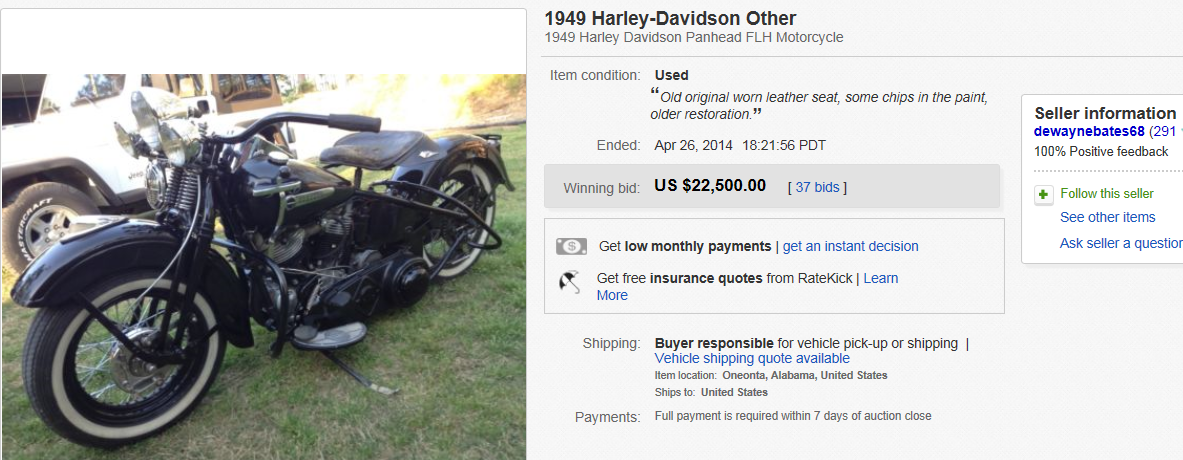 Most Expensive Motorcycles Sold On EBay April - Expensive motorcycle ever sold