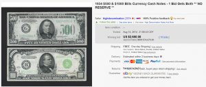 1. Top Currency Sold for $4,161. on eBay