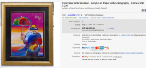 1. Most Expensive Lithograph Sold for $4,050. on eBay