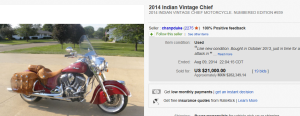 1. Most Expensive Motorcycle Sold for $21,000. on eBay
