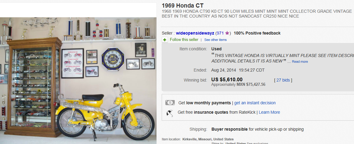 Most Expensive Motorcycles Sold On Ebay August 2014
