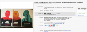 1. Top Star War Sold for $8,378.39. on eBay