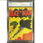 Batman #1, CBCS 7.5 World's Record Price for 7.5 Grade Sold for $237,300