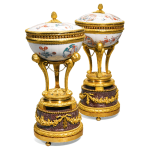 Pair Of Gilt-Bronze-Mounted Japanese Kakiemon Porcelain and Egyptian Porphyry Brûle Parfums Sold for $3 Million
