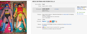 Mego Batman And Robin Action Figures