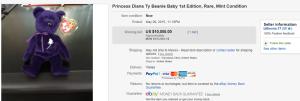 Princess Diana Ty Beanie Baby 1st Edition