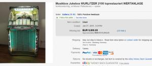 Musikbox Jukebox Wurlitzer 2100 Toprestauriert Wertanlage