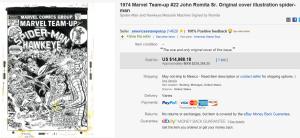 1974 Marvel Team-Up #22 John Romita Sr. Original Cover Illustration Spider-Man