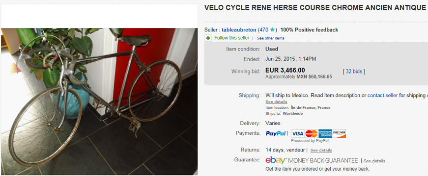 most expensive bicycles sold on ebay june 2015. Black Bedroom Furniture Sets. Home Design Ideas
