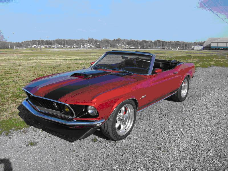 1969 Ford mustang convertible price